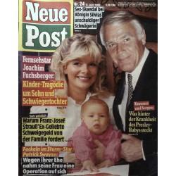 Neue Post Nr.24 / 9 Juni 1989 - Joachim Fuchsberger