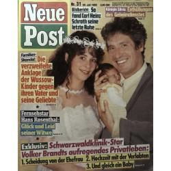 Neue Post Nr.31 / 28 Juli 1989 - Volker Brandts
