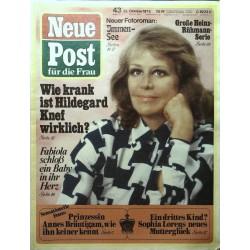 Neue Post Nr.43 / 22 Oktober 1973 - Hildegard Knef