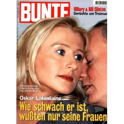 BUNTE Nr.12 / 18 März 1999 - Oskar Lafontaine