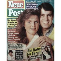 Neue Post Nr.3 / 9 Januar 1987 - Ein Baby für Sarah!