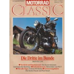Motorrad Classic 5/92 - September/Oktober 1992 - Die Dritte im Bunde DKW RT 250