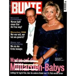 BUNTE Nr.1 / 30 Dezember 1998 - Ingrid und F.K. Flick