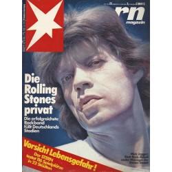 stern Heft Nr.23 / 3 Juni 1982 - Die Rolling Stones privat
