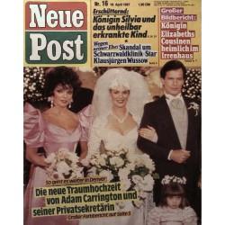 Neue Post Nr.16 / 10 April 1987 - Adam Carrington