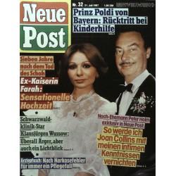 Neue Post Nr.32 / 31 Juli 1987 - Ex-Kaiserin Farah
