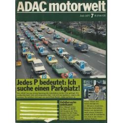 ADAC Motorwelt Heft.7 / Juli 1977 - Ich suche einen Parkplatz