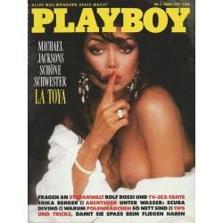 Playboy Nr.3 / März 1989 - La Toya Jackson
