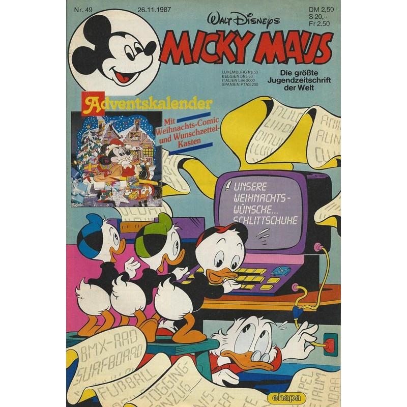 Micky Maus Nr. 49 / 26 November 1987 - Adventskalender