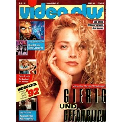 Video Plus 8/92 August 1992 - Sharon Stone