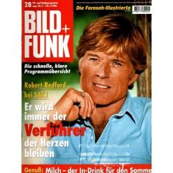 Bild und Funk Nr. 28 / 18 bis 24 Juli 1998 - Robert Redford