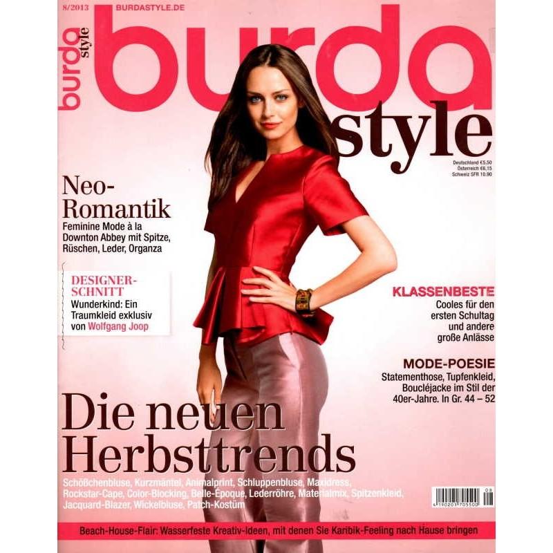 burda Moden 8/August 2013 - Die neuen Herbsttrends