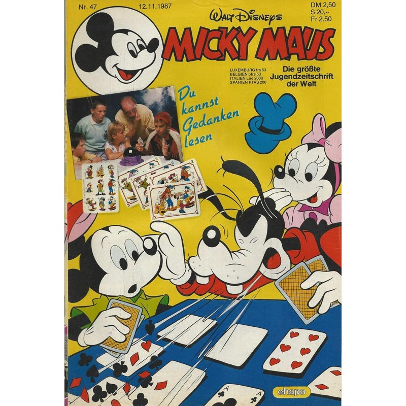 Micky Maus Nr. 47 / 12 November 1987 - Du kannst Gedanken lesen