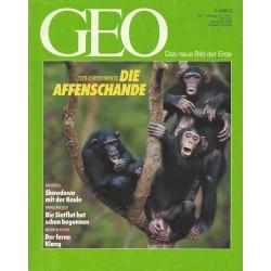 Geo Nr. 7 / Juni 1991 - Die Affenschande