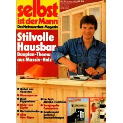 Selbst ist der Mann 10/86 Oktober 1986 - Stilvolle Hausbar