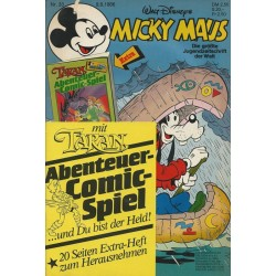 Micky Maus Nr. 33 / 9 August 1986 - mit Tarzan Comic-Spiel