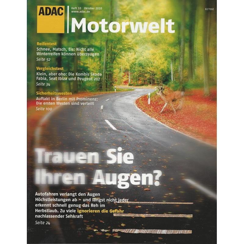 Adac Motorwelt Heft10 Oktober 2010 Trauen Sie Ihren Augen
