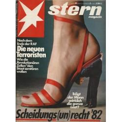 stern Heft Nr.48 / 25 November 1982 - Scheidungs(un)recht 82