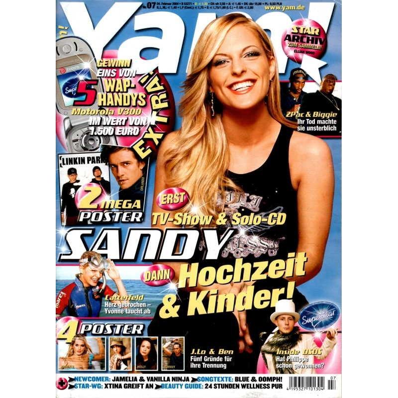 Yam! Nr.7 / 4 Februar 2004 - Sandy Mölling