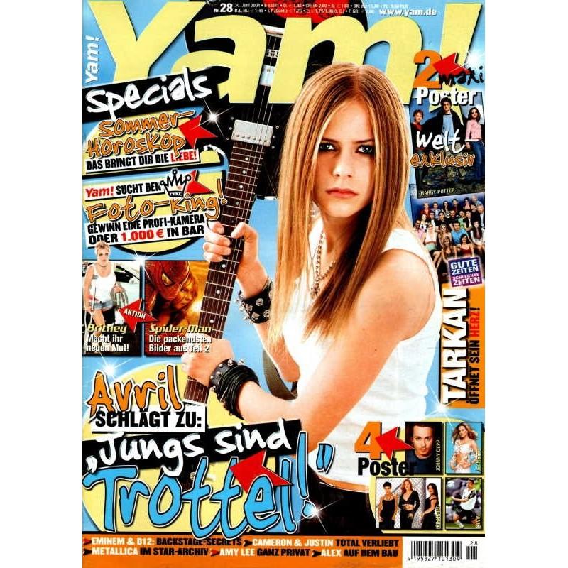 Yam! Nr.28 / 30 Juni 2004 - Avril Lavigne schlägt zu