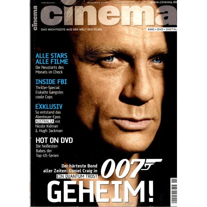 CINEMA 11/08 November 2008 - Daniel Craig 007