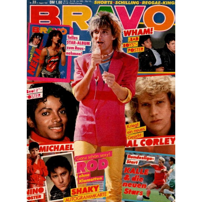 BRAVO Nr.33 / 11 August 1983 - Rod Stewart