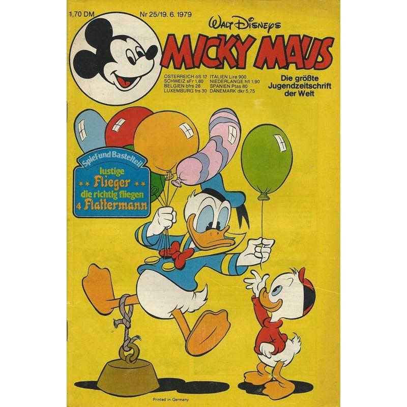 Micky Maus Nr. 25 / 19 Juni 1979 - 4 mal Flattermann