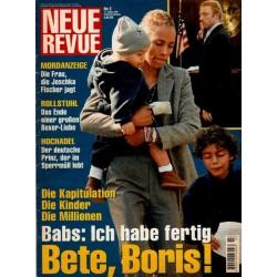 Neue Revue Nr.3 / 11 Januar 2001 - Babs: Ich habe fertig