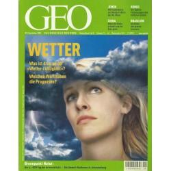 Geo Nr. 9 / September 2002 - Wetter
