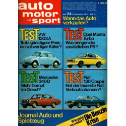 auto motor & sport Heft 24 / 24 November 1973 - Test