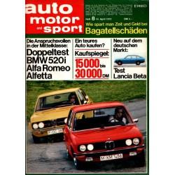 auto motor & sport Heft 8 / 14 April 1973 - BMW und Alfa