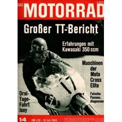 Das Motorrad Nr.14 / 13 Juli 1968 - Großer TT-Bericht