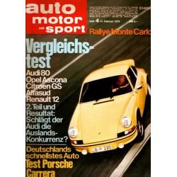 auto motor & sport Heft 4 / 17 Februar 1973 - Porsche Carrera