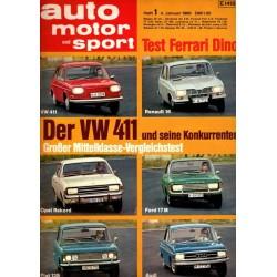 auto motor & sport Heft 1 / 4 Januar 1969 - Der VW 411