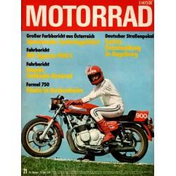Das Motorrad Nr.21 / 20 Oktober 1976 - MV Agusta 900 S