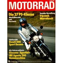 Das Motorrad Nr.26 / 29 Dezember 1976 - Ducati 500 Sport Desmo