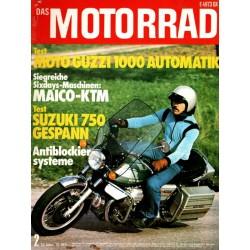 Das Motorrad Nr.2 / 24 Januar 1976 - Moto Guzzi 1000 Automatik