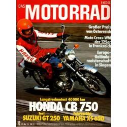 Das Motorrad Nr.10 / 17 Mai 1975 - Suzuki GT 250