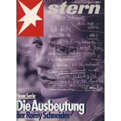 stern Heft Nr.42 / 14 Oktober 1982 - Die Ausbeutung der Romy Schneider