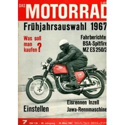 Das Motorrad Nr.7 / 25 März 1967 - BSA Spitfire MZ ES 250/2