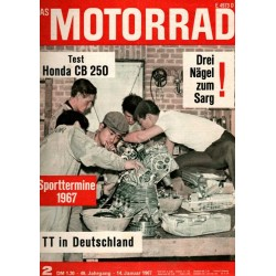 Das Motorrad Nr.2 / 14 Januar 1967 - Honda CB 250