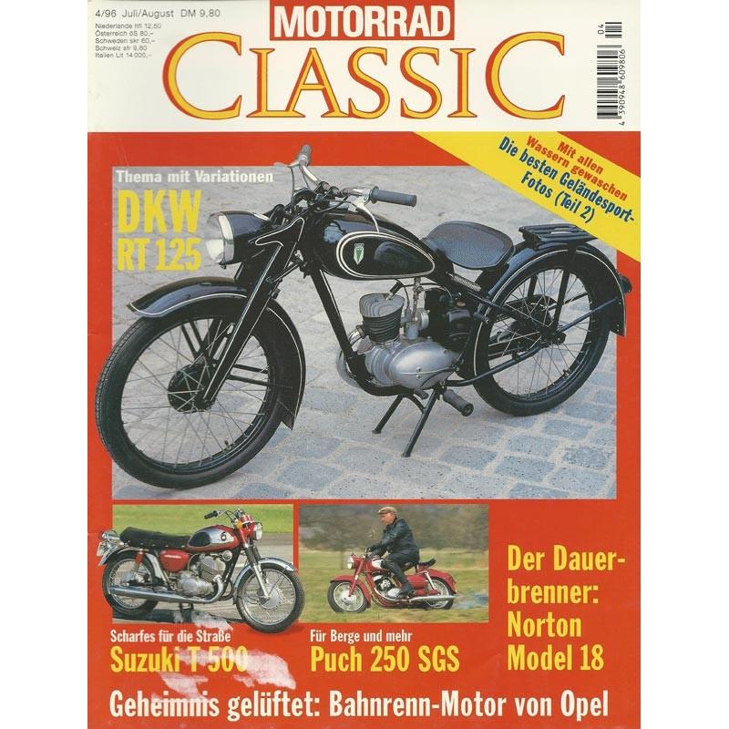 Motorrad Classic 4/96 - Juli/August 1996 - Thema mit Variationen DKW RT 125