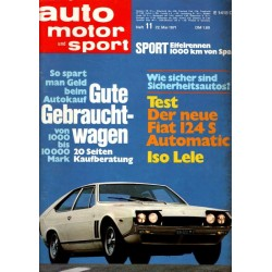 auto motor & sport Heft 11 / 22 Mai 1971 - Iso Lele