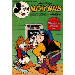 Micky Maus Nr. 42 / 14 Okotber 1980 - Western Poster