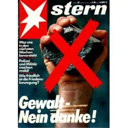 stern Heft Nr.32 / 4 August 1983 - Gewalt, nein danke!
