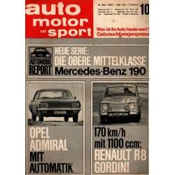 auto motor & sport Heft 10 / 15 Mai 1965 - Opel & Renault
