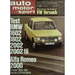 auto motor & sport Heft 15 / 17 Juli 1971 - Test BMW