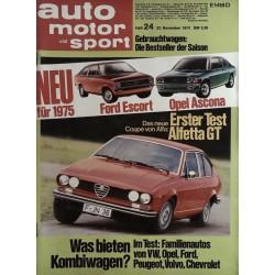 auto motor & sport Heft 24 / 23 November 1974 - Alfetta GT