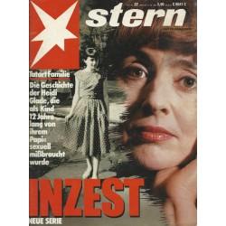 stern Heft Nr.22 / 26 Mai 1988 - Heidi Glade Inzest