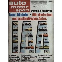 auto motor & sport Heft 19 / 15 September 1973 - IAA